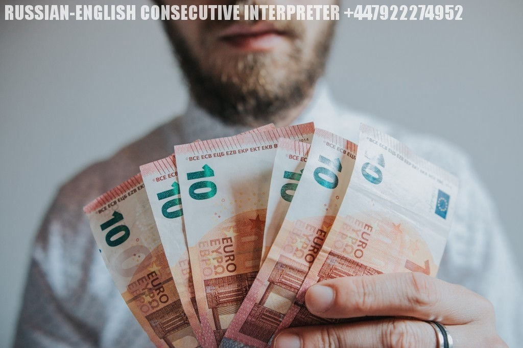HOW MUCH IS A RUSSIAN-ENGLISH INTERPRETER PAID?