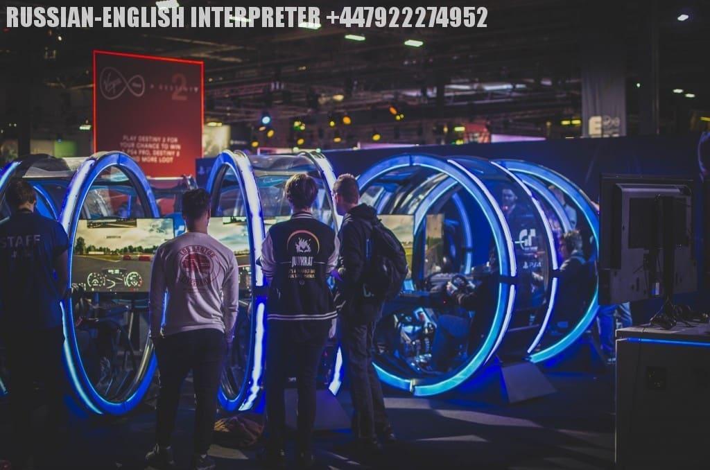 Устный перевод на английский на выставке ICE Totally Gaming в Лондоне