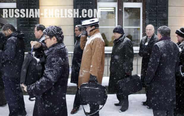 Russian interpreter in Davos Switzerland